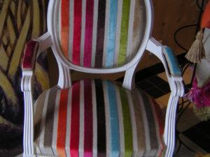 rembourrage de fauteuil medaillon