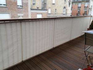 toile brise soleil pour balcon